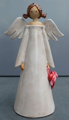 Christmas Clay, Christmas Items, Christmas Angels, Clay Angel, Pottery Angels, Ceramic Angels, Angel Crafts, How To Make Paint, Pottery Classes