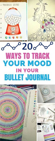 Mood Tracker Layouts - Bullet Journal - If you want to keep track of your emotions this year try one of these totally creative bullet journal mood tracker layouts! #selfcare #bulletjournal #bujo