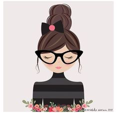 Illustration Girl, Character Illustration, Pop Art Drawing, Cute Cartoon Girl, Cartoon Art, Jolie Photo, Girls With Glasses, Illustrations, Doodle Art