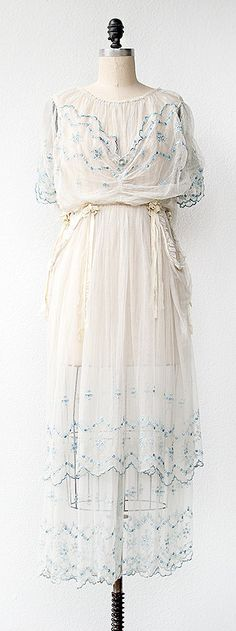 Edwardian 1910s | Wedding Dress