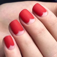 44 Cute Matte Red Nail Designs ( Summer 2018 )