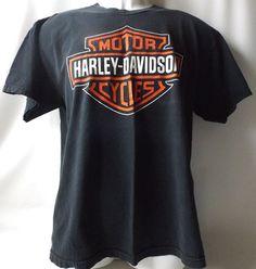 vintage 1990's black harley davidson tshirt by RecycleBuyVintage