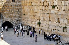 "Western ""Wailing"" Wall located in the old City of Jersualem. It is a remnant of the ancient wall that surrounded the Jewish Temple courtyard and is one of the most sacred sites in Judaism outside of the Temple Mount itself."