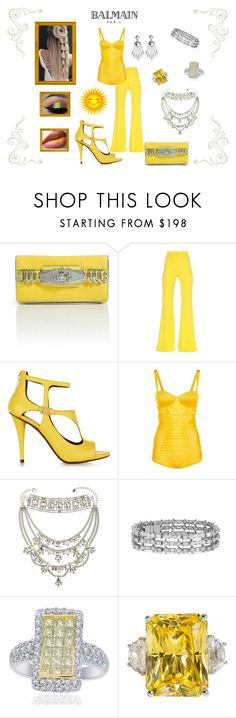 """""""You R My SunShine"""" by destinystarr772 ❤ liked on Polyvore featuring Balmain, Pierre Balmain, Juicy Couture and Blue Nile"""