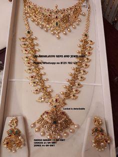 Bridal jewellery best designs made in minimum weight Presenting here Mango haaram Choker and jhumke. Gold Jewelry Simple, Indian Wedding Jewelry, Bridal Jewelry, Indian Jewelry Sets, India Jewelry, Indian Bridal, Pearl Jewelry, Gold Jewellery Design, Gold Choker