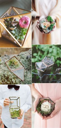 2017 Wedding Trends: Geometric Terrarium trending geometric terrarium wedding ring boxes and holders 2017 2017 Wedding Trends, Wedding 2017, Trendy Wedding, Perfect Wedding, Wedding Ring For Him, Ring Holder Wedding, Wedding Rings Vintage, Wedding Band, Wedding Boxes