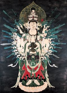 """Neo Thousand Armed Kannon"" by TENMYOUYA Hisashi, Japan / acrylic, wood, 2002 , THAT BUDDHA IS PACKING!!!"