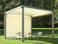 Garten Holz Pergola Rasen Fliesen Gardinen Sichtschutz | Terrassen ... Gartengestaltung Ideen Pergola Grillparty