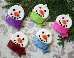 Fimo clay ornaments