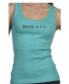 Bride and Co. - Tiffany and Co. Inspired Tank Top or Fitted Tee. $15.99, via Etsy.