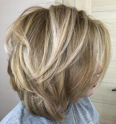 Honey Blonde Bob With Platinum Highlights