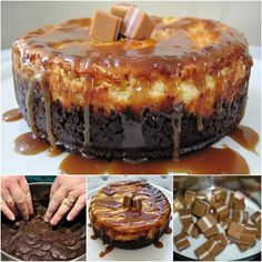 Salted Caramel and Chocolate combine in a deliciously sweet overload in this NO Bake Jersey Caramel Cheesecake! You'll also love the Salted Caramel Cheesecake Bars. Caramel Crunch, Caramel Apple Cheesecake, Baked Cheesecake Recipe, Caramel Fudge, Chocolate Cheesecake, Cheesecake Bars, Just Desserts, Delicious Desserts, Dessert Recipes
