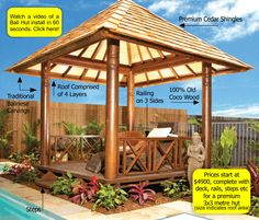 Timber Shingle | Balinese Beds | Gazebo Thatch Products | Bali Huts | About our Huts