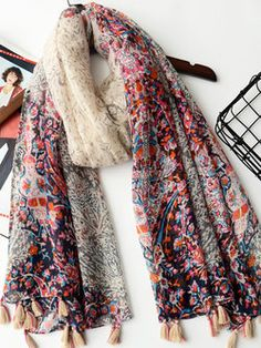 """Multicolored Floral Casual Scarf """"#womensfashion #accessories  #genuine #vintage #chic #streetstyle #stylish #outfit #fashionista #modern #designers #instafashion #ootd #lookbook #beachwear #knitwear #summerstyle #brands #freeshipping"""""""