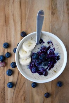 Oh-so-sweet, seasonal blueberries take this quinoa porridge to a whole new level for a hearty Summer breakfast!