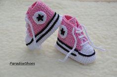 9e0993e95 converse de ganchillo crochet zapatos por ParadiseShoes en Etsy Converse De  Ganchillo