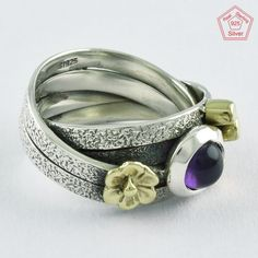 Sz. 8 US MOST SELLING UNIQUE DESIGN AMETHYST 925 STERLING SILVER RING,R4623 #SilvexImagesIndiaPvtLtd #Statement #AllOccasions