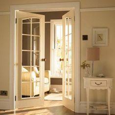 French Door to TV Room - traditional - interior doors - patches_jaquelinenikos