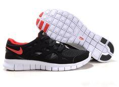 Herre Nike Free Run 2 Anthracite Sort Rød Hvid