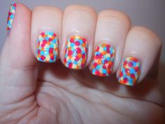 """dippin dots inspired nails """"rainbow ice"""""""