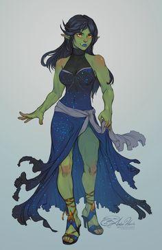 ArtStation - Commission: Orc Elf, Amber Harris