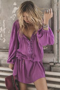 In love with this color • Wild Orchid Smock Dress