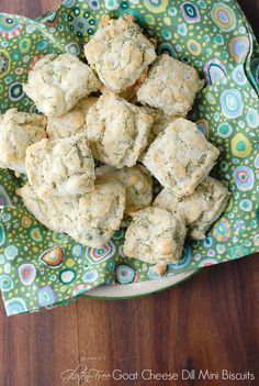 #GlutenFree Goat Cheese Dill Mini Biscuits