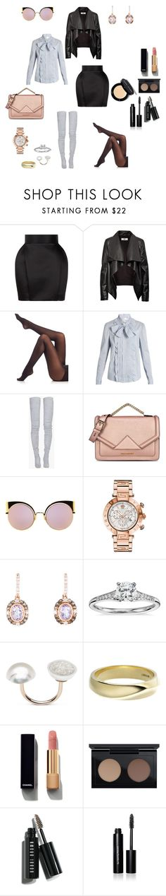 """""""Untitled #1108"""" by loreta-798 ❤ liked on Polyvore featuring Balmain, HIDE, SPANX, RED Valentino, Karl Lagerfeld, Fendi, Versace, LE VIAN, Blue Nile and Shaun Leane"""