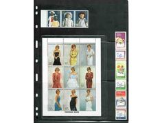 Stamps included are:  Nine (9) Princess Diana Royal Gowns PLate Block, issued by Togo. Certificate number 16815 Seven (7) stamps-Probing the Planets West Point, Military Academy Block of four (4) stamps-Albania Block of four (4) stamps-Cople...