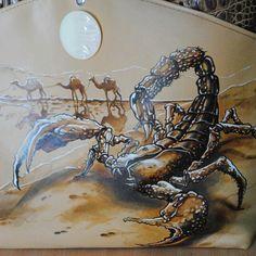 Скорпион. Рисунок на коже.
