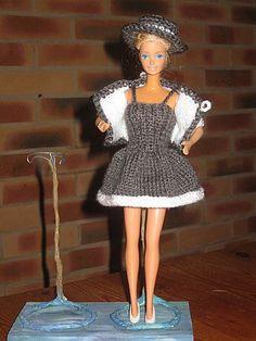 petit tailleur gris- tuto tricot barbie