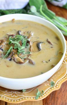 This creamy mushroom soup is made with three types of mushrooms and fresh sage. It's simple, hearty and guaranteed to please every mushroom lover.