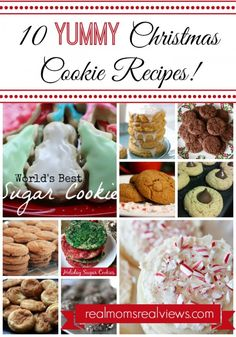 10 Yummy Christmas Cookie Recipes!