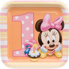 Find this Pin and more on Kids birthday Party Ideas. First Birthday Minnie Mouse Cake Plates ...  sc 1 st  Pinterest & Minnie Mouse 1st Birthday Iron On Transfer by DesignsByBrinley ...