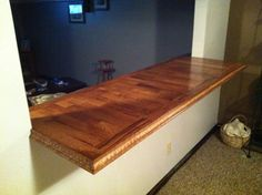 Countertop out of leftover hardwood flooring