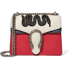 Gucci Dionysus mini appliquéd leather shoulder bag (€2.360) ❤ liked on Polyvore featuring bags, handbags, shoulder bags, mini shoulder bag, leather crossbody purse, gucci shoulder bag, gucci crossbody and gucci purse