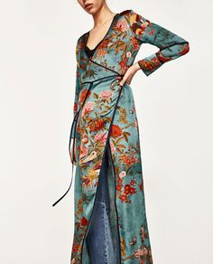 Summer Dress 2017 Vintage Printed Cardigan Kimono Dress Cross V Neck Long Sleeve With Belt Long Maxi Dress Plus Size Casual Kimono Outfit, Kimono Cardigan, Summer Dresses 2017, Bohemian Mode, Plus Size Maxi Dresses, Outerwear Women, Fashion 2020, New Dress, Dress Long