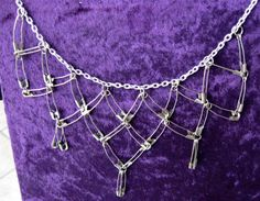 Chainmail pin necklac, safety pin