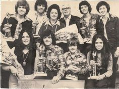 The Osmonds on Tour, 1973.  Photo taken in London, UK.