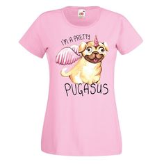 Ladies pug t shirt Available at www.ilovepugs.co.uk sizes S-XXL post worldwide