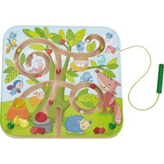 HABA Tree Maze Wooden Magnetic Game Develops Fine Motor Skills & Color Recognition with Attached Wand Kids Travel Games, Games For Kids, Kids Toys Online, Magnetic Beads, Maze Game, Fine Motor Skills, Puzzle, Best Games, Cool Toys