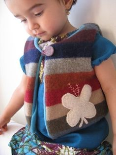Boy/girl chic vest Instant download  12m to 7T Easy by ManiMina, $6.00