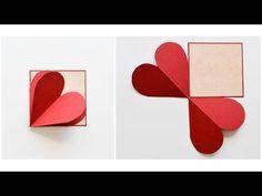 How to Make – Greeting Card Valentine's Day Hearts – Step by Step DIY Valentines Greetings, Valentine Greeting Cards, Valentine Crafts, Diy Crafts For Gifts, Diy Arts And Crafts, How To Make Greetings, Molduras Vintage, Birthday Gift Cards, Birthday Scrapbook