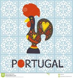 Illustration about Illustration of decorated Barcelos rooster symbol of Portugal. Illustration of gift, dotted, creative - 50562199