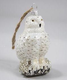 Look at this #zulilyfind! Perched Snowy Owl Ornament #zulilyfinds