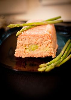 Terrine of two kinds of salmon and avocado.
