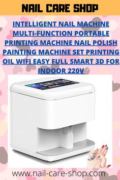 Intelligent Nail Machine Multi-Function Portable Printing Machine Nail Polish Painting Machine Set Printing Oil WiFi Easy Full Smart for Indoor Nail Polish Painting, Nail Printer, Mobile Nails, Basic Nails, Photo Printer, Us Nails, Nail Care, You Nailed It, Are You The One