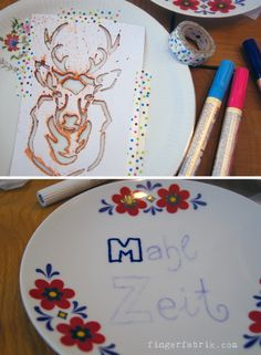 DIY: Upcycling old plates ceramic marker