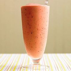 Strawberries are rich in antioxidants and, ounce for ounce, have more vitamin C than oranges. Enjoy summer's quintessential fruit with this simple smoothie.
