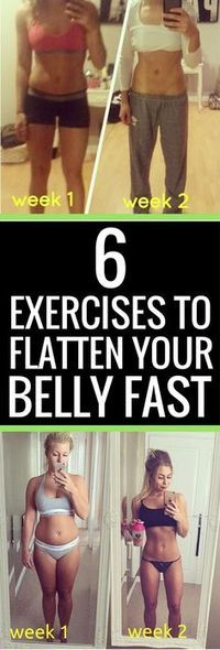 6 Exercises Guaranteed To Flatten Your Belly Fast.